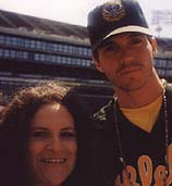 Andrea and A's mellow Taurus pitcher Barry Zito, who's having a superb year.