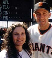Andrea the Astrologer and pitcher Kirk Rueter
