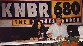 Andrea sharing her thoughts with KNBR listeners