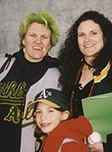 A's fans Pam, Andrea and Laurel